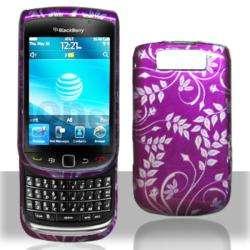 Premium BlackBerry Torch 9800 Purple Flower Case