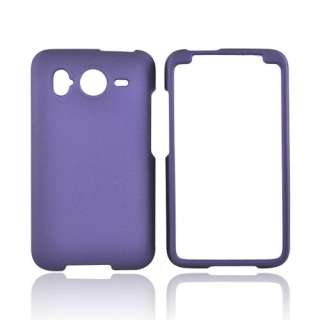 For HTC Inspire 4G Purple Rubberized Protective Hard Shell Case Cover
