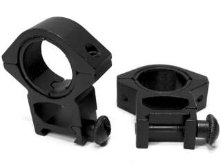 NcSTAR 30mm/1 Rifle Scope Rings (2) Weaver Medium Profile See Through