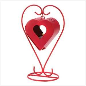 Red Heart Candle Lantern Valentine Day Decorations NEW