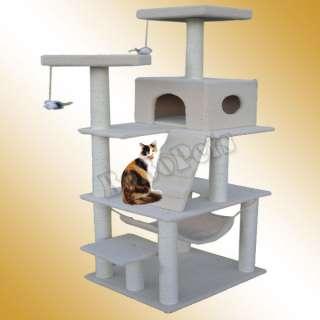 72 Black Cat Tree Condo Furniture Scratch Post Pet House