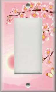 Plate Cover   Wall Decor   Asian Pink Cherry Blossom Flowers