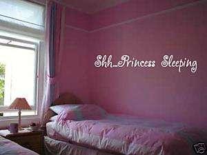 PRINCESS SLEEPING Girls Kids Bedroom VInyl Wall Art