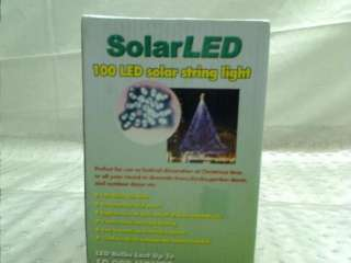 Solar Powered 35 Foot Holiday String Lights, 100 LED White