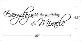 possibility of a miracle vinyl wall art quote decal dimensions