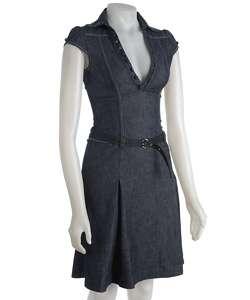 Miss Sixty Womens Cap Sleeve Denim Dress