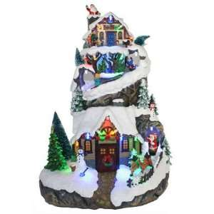 Animated Christmas Tree with Village Scene Case Pack 2