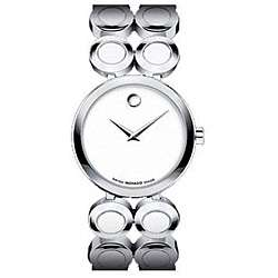 Ono Moda Womens Stainless Steel White Face Watch