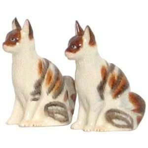 Ceramic Pottery Angora White Cat Salt and Pepper Shakers 3