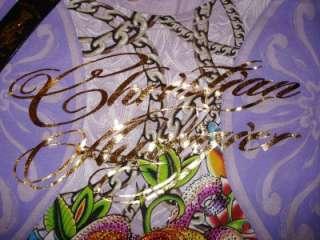 Christian Audigier Rhinestone Women Tee Shirt Ed Hardy S NEW