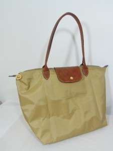 Longchamp Le Pliage Nylon Tote Bag DARK BEIGE New Large retail 145