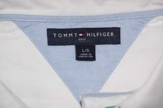 TOMMY HILFIGER GOLF LONG SLEEVE WHITE SHIRT MENS LARGE