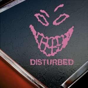 Disturbed Pink Decal Metal Rock Band Truck Window Pink