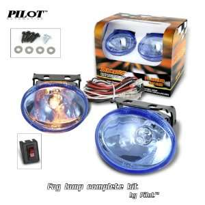 2 x Pilot Oval Universal Blue Lens Fog Lights Kit with