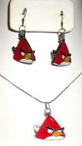 Popular Angry Birds Necklace & Earring Set * U Pick Color