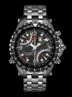 TX Mens T3C325 Classic Fly back Chronograph Compass Dual Time Zone