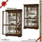 Howard Miller Large size 50 wide Cherry Curio Display Cabinet