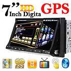 HOT Item Double 2 Din 7 Car DVD CD Player GPS Navigation In Dash