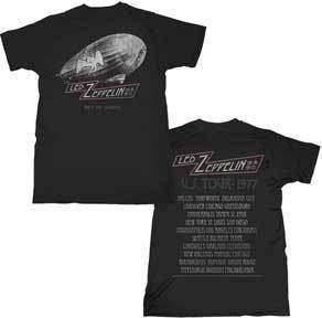 LED ZEPPELIN   T Shirt   CITIES   U.S. Tour 77   S M LG XL 2XL   NEW