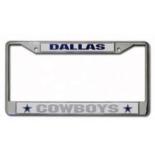 com NFL   Dallas Cowboys Chrome License Plate Frame Sports Fan Shop