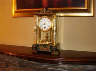 GRIVOLAS TORSION PENDULUM 400 DAY CLOCK MODEL #305 CRYSTAL REGULATOR