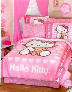 New Pink Matching Hello Kitty Curtains