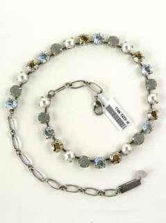 Mariana Handmade Swarovski Crystal 3252 Necklace White Pearl Topaz