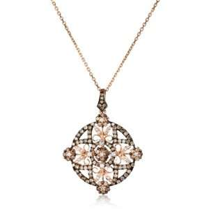 KC Designs Tres Chic 14k Rose Gold, White and Champagne
