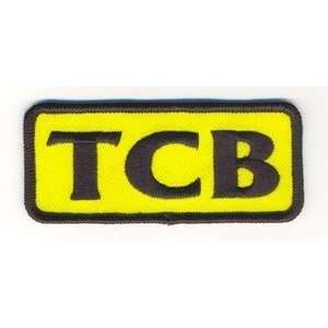 TCB TAKIN CARE OF BUSINESS YELLOW Fun Biker Vest Patch