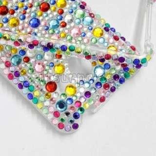Bling Diamond Colorful Full Hard Case Cover For HTC EVO 4G Sprint
