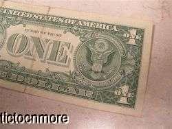 1957A 1957 A $1 ONE DOLLAR BILL SILVER CERTIFICATE STAR NOTE BLUE SEAL