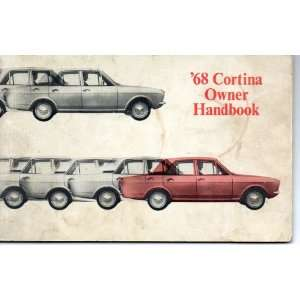68 Cortina owner handbook FORD MOTOR COMPANY Books