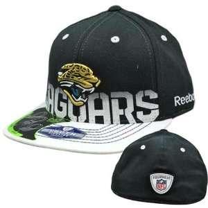 NFL Jacksonville Jaguars Black White Flat Bill Youth Kids Reebok 2 in