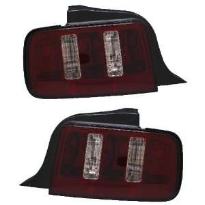 FORD MUSTANG 05 09 TAIL LIGHT DARK RED (2010 STYLE)( NO