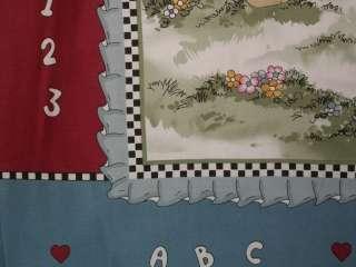 Baby Cotton Quilt Top Nursery Noahs Ark Cotton Print