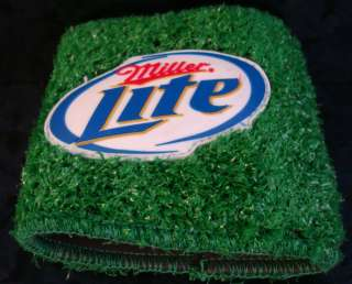 MILLER LITE BEER Soda CAN COZIE Koozie HOLDER Grass ASTRO TURF Drink