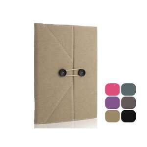 Envelope Button Clip PU leather case pouch for ipad 2