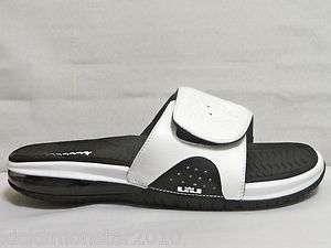 Nike Air Lebron Slide Sandal Slipper Slide Black White Men Sz