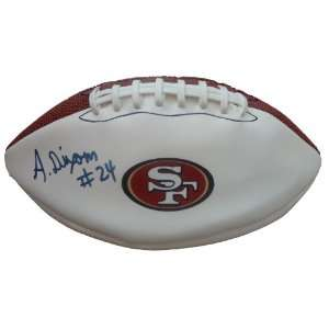 Anthony Dixon Autographed San Francisco 49ers Logo