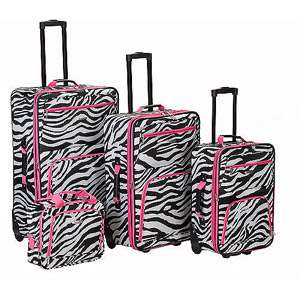 Rockland 4 Piece Rolling Luggage Set Luggage