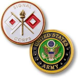 US ARMY SIGNAL CORPS MILITARY CHALLENGE COIN #60328