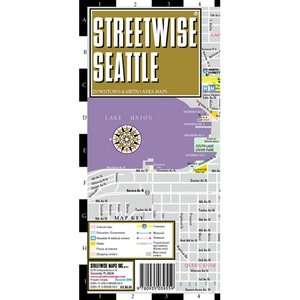Streetwise Seattle Map   Laminated City Street Map of
