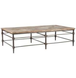 mattix french country reclaimed wood 64 coffee table versailles