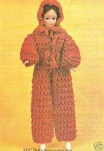 FUN Snowmobile Suit for Fashion Doll/Crochet Pattern