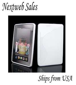Soft S line Gel TPU Skin Case Cover for  Kindle Fire   White