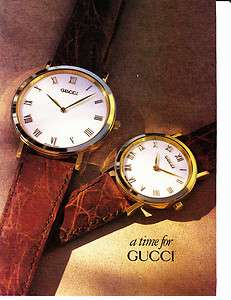 1991 GUCCI WATCHES Vintage Print Ad A TIME FOR GUCCI