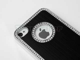 Luxury Bling Diamond Rhinestone Aluminium Case Cover For iPhone 4S 4G