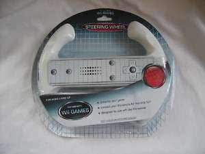 Wii Games Attachment Steering Wheel* Brand New * NIB *