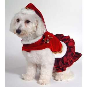 Mrs Santa Claus doggie couture 10 inch outfit