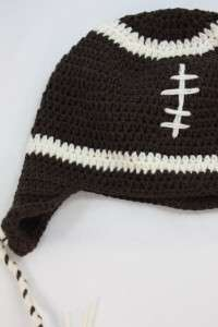 FOOTBALL HANDMADE KNIT CROCHET HAT FOR KIDS BOY GIRL L